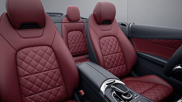 C-Klasse-Cabriolet-Interieur-Sitze-Mercedes-Benz-Touchpad-Mittelkonsole-Leder
