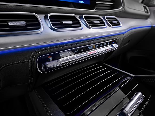 GLE-SUV-Interieur-Instrumente-Mercedes-Benz-Bedienelemente-Lüftung