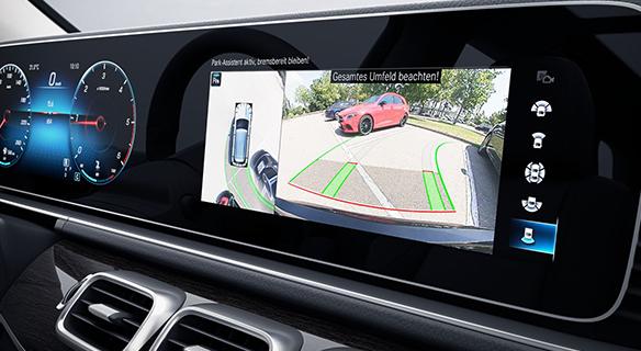 GLE-SUV-Besonderheiten-Parkkamera-Cockpit-Einparkhilfe