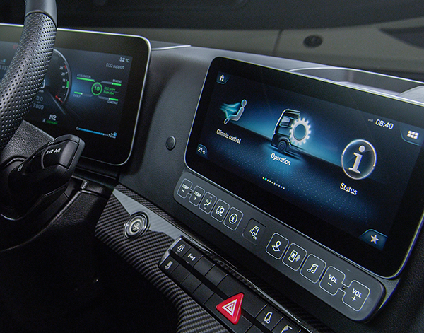 Actros-Interieur-Multimedia-Bedienelemente-Truck-Mercedes-Benz-digital-Display