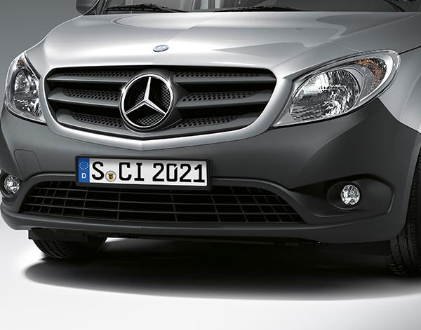 Citan-Kastenwagen-Exterieur-Frontansicht-Scheinwerfer-Mercedes-Benz-Kühlergrill-Stern