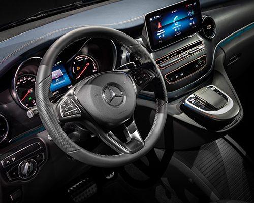 Mercedes-Benz-Interieur-EQV-Lenkrad-Multimedia-Bedienelemente
