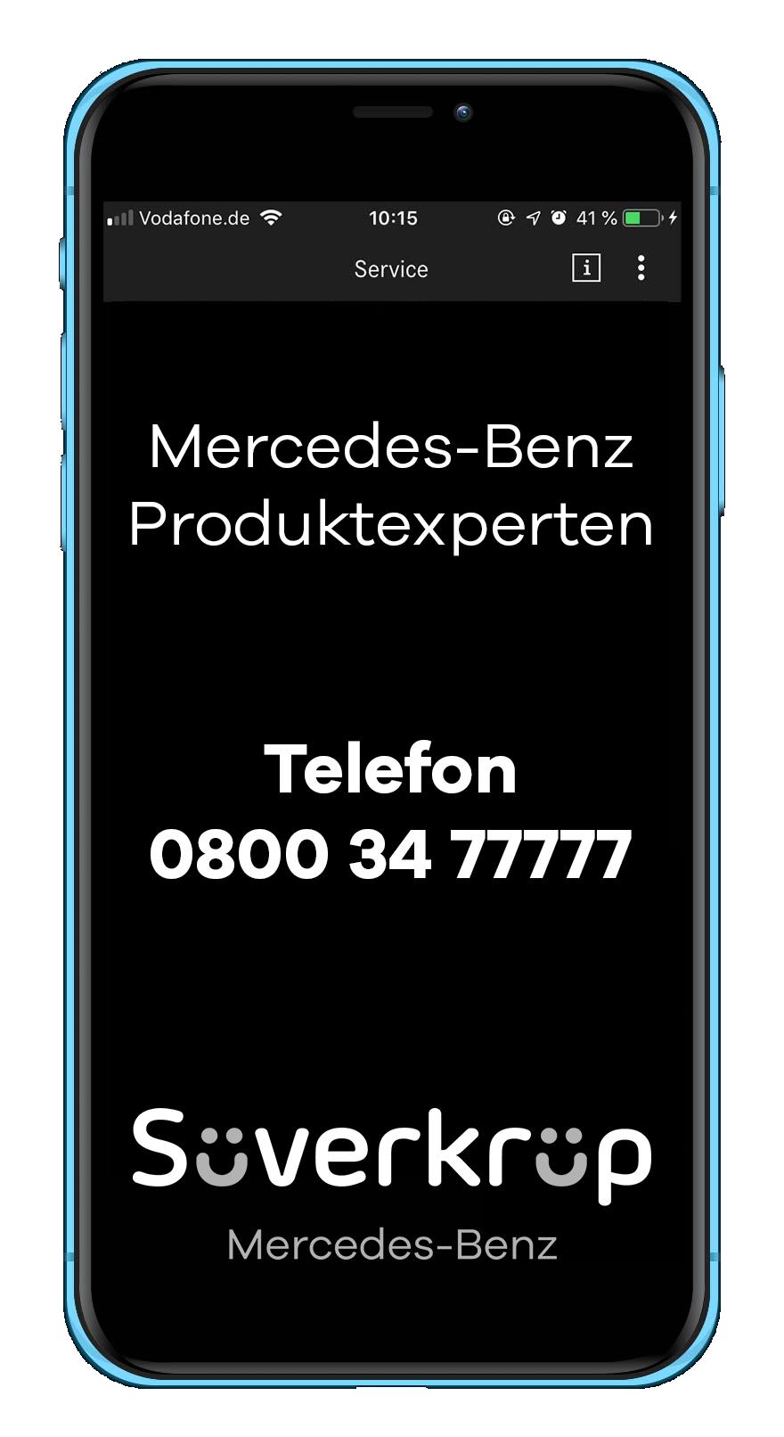 Kontakt Mercedes-Benz Produktexperte