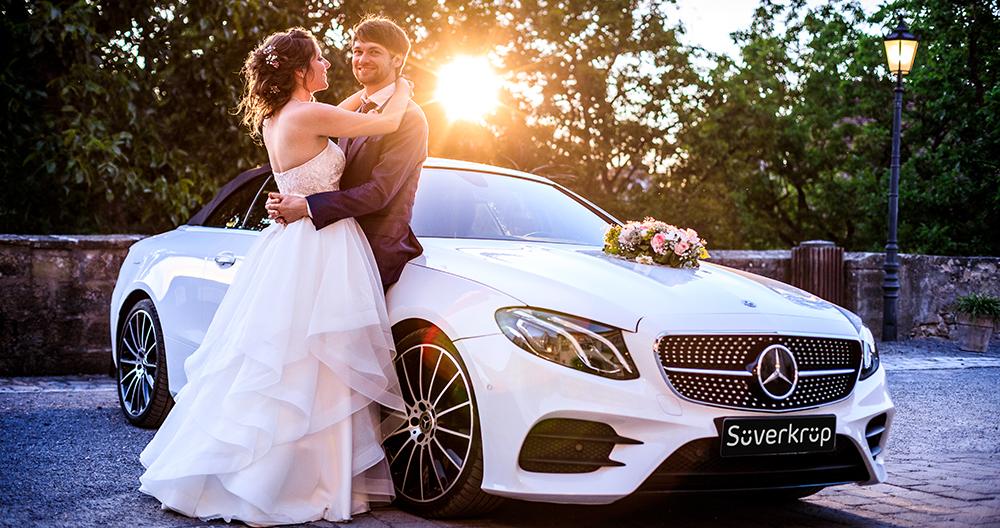Hochzeit mit Mercedes-Benz - Vermietung